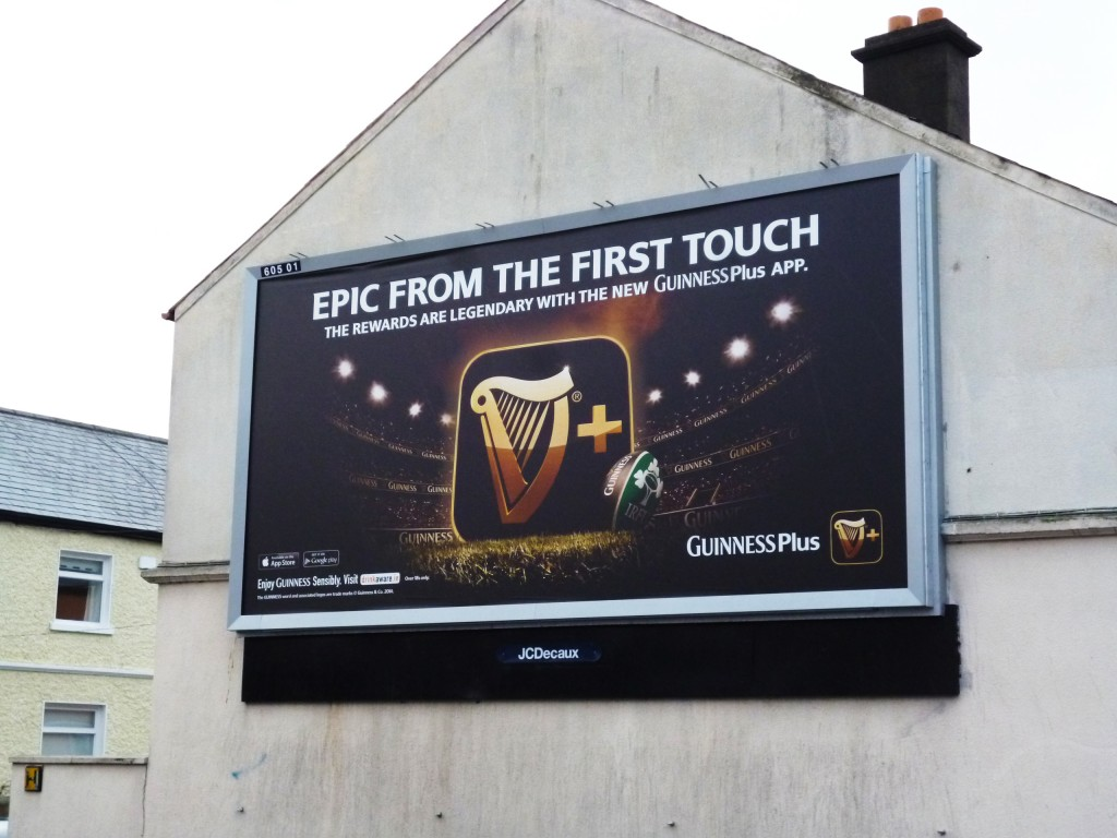 Guinness outdoor advertising